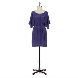 Anthropologie Etesian Navy Silk Dress